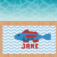 Blue Fish Beach Towel