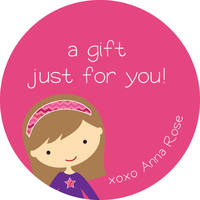 Girly Girl Gift Stickers