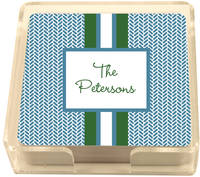 Blue Herringbone Coasters CS321