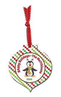 Chilly Penguin Acrylic Ornament