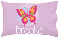 Pink Butterfly Pillowcase