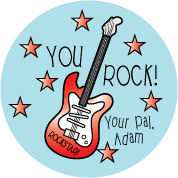 Guitar Valentine Sticker RL-VAL4