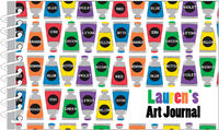 Lots of Paint Tubes Art Journal