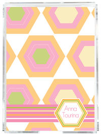Citrus Hexagon Memo Sheets