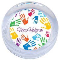 Bright Handprints Paperweight