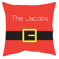Santa Belt Accent Pillow