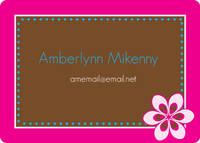 Fuchsia Flower Calling Card