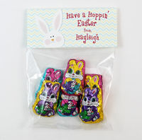Hoppin' Easter Girl Easter Candy Bag Toppers