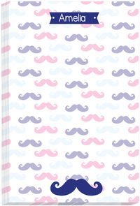 Blue Moustache Note Pad