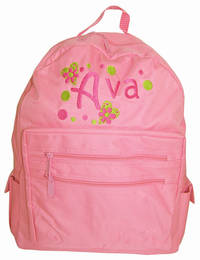 Heart Embroidered Backpack