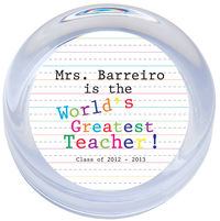 Greatest Teacher Paperweight