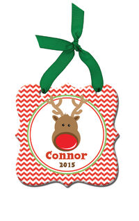 Chevron Reindeer Acrylic Ornament