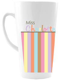 Pastel Border Ceramic Coffee Mug