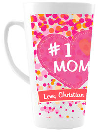 Number 1 Mom Ceramic Coffee Mug