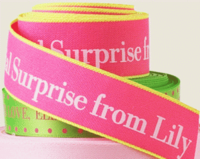 "7/8"" Textured Neon Edge Personalized Ribbons"
