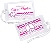 Camp Peace Luggage Tag