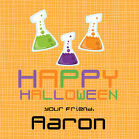 Halloween Beakers Gift Stickers