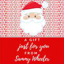 Red Santa Gift Stickers