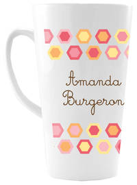 Colorful Hexagons Ceramic Coffee Mug