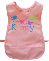 Paint Splatters Embroidered Smock