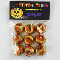 Pumpkin Treats Candy Bag Toppers