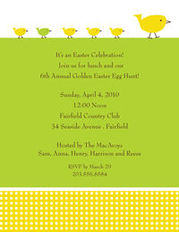 Baby Chicks Easter Invitation SM8307