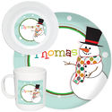 Mr. Snowman Melamine Set