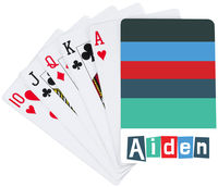Cool Letter Playing Cards
