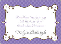 Cafe Lavender Calling Card