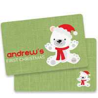 First Christmas Bear Green Placemat