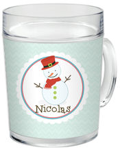 Happy Snowman Clear Acrylic Mug