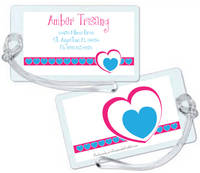 Heartline Pink Luggage Tag