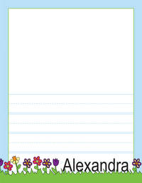 May Flowers Kindergarten Drawing Pad