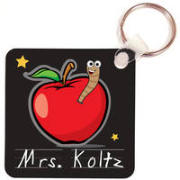 Apple for Teacher Key Chain