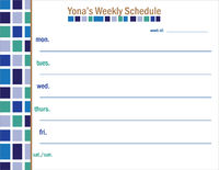 Blocks of Blue Weekly Calendar