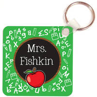 Apple Chalkboard Key Chain