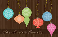 Bright Ornaments Paper Placemats