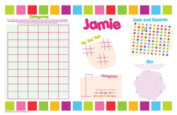 Banner Girl Games Paper Placemats