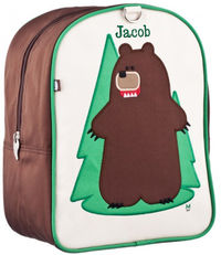 Fernando Bear Small Embroidered Backpack