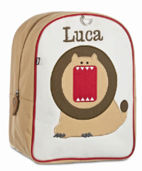 Lion Small Embroidered Backpack