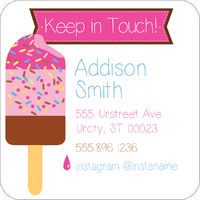 Bright Popsicles Calling Card