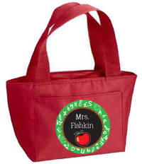 Apple Chalkboard Insulated Tote