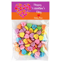 Bold Heart Valentine Candy Bag Toppers