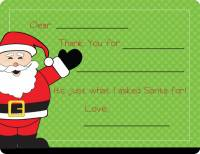 Cheerful Santa Fill-in Card