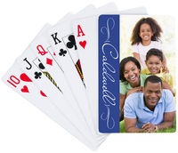 Blue Script Playing Cards