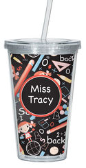 Back to School Clear Acrylic Tumbler