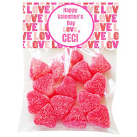 Heart Love Valentine Candy Bag Toppers