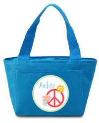 Polka Dot Peace Insulated Lunch Tote