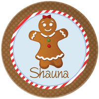 Gingerbread Plate Girl