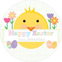 Chickadee Banner Easter Gift Stickers